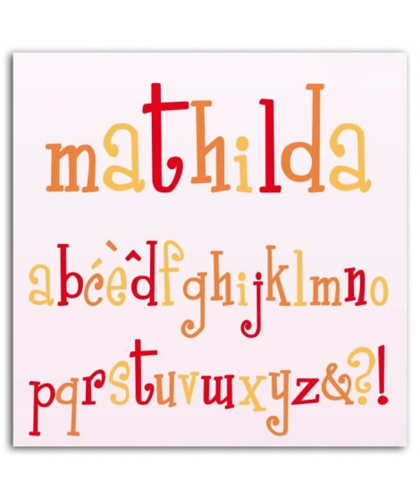 LES D'COS DE TOGA Pack de 10 Dies Alphabet Mathilda
