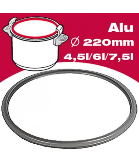 SEB Joint autocuiseur resistal 792728 4,5-6-7,5L Ø22cm gris