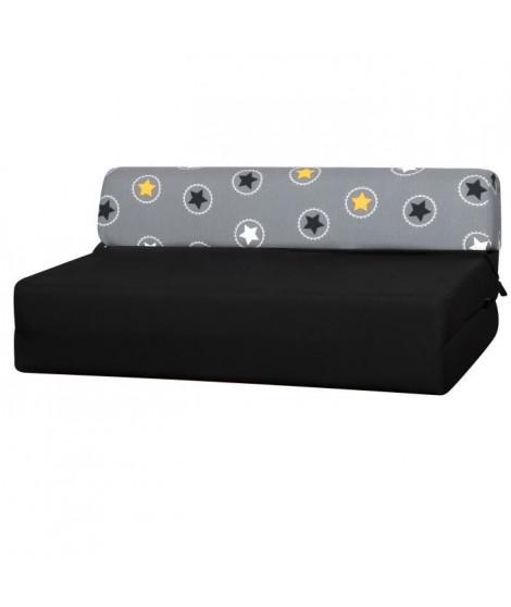 GWEN Chauffeuse 2 places - Tissu Jaune Star - Style contemporain - L19 x P 78 cm