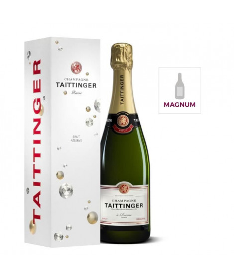MAGNUM Champagne TAITTINGER Brut Réserve étui 150 cl 12,5°