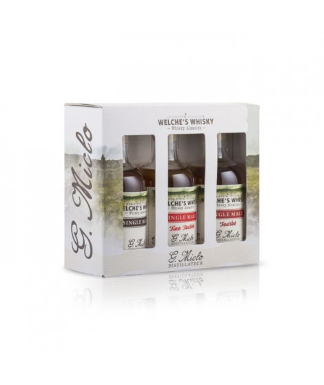 G. Miclo - Coffret 3 Welche's Whiskies - Single Malt Alsacien - 3 x 20 cl