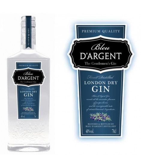 Gin Bleu d'Argent 40° 70cl