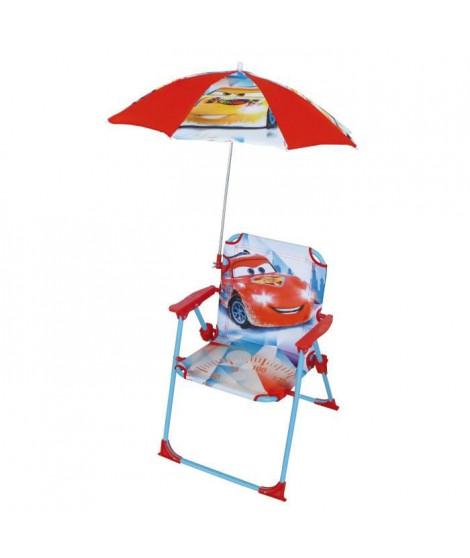 Fun House Disney Cars chaise pliable avec parasol pour enfant