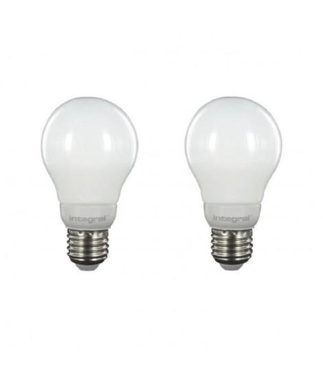 INTEGRAL LED Lot de 2 ampoules classic globe E27 5,5 W équivalent a 40 W 2700 K 470 lm