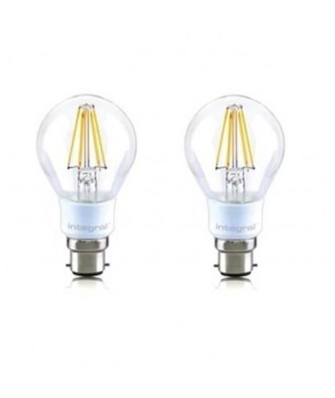 INTEGRAL LED Lot de 2 ampoules classic B22 filament 4,5 W équivalent a 40 W 2700 K 470 lm