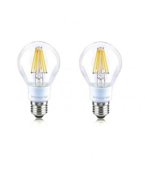 INTEGRAL LED Lot de 2 ampoules classic E27 filament 7 W équivalent a 60 W 2700 K 806 lm