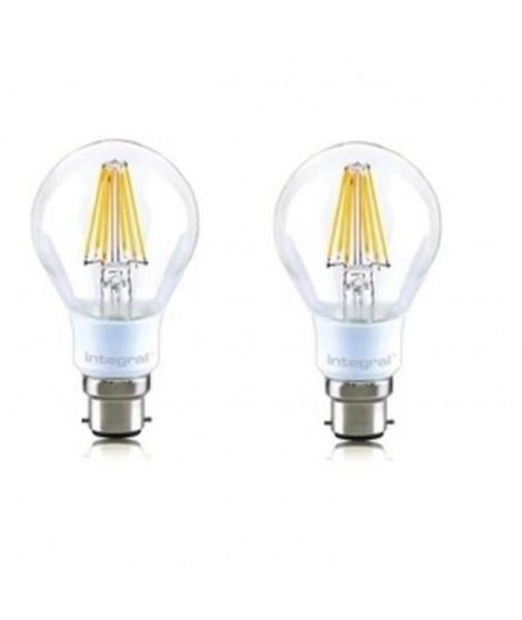INTEGRAL LED Lot de 2 ampoules classic B22 filament 7 W équivalent a 60 W 2700 K 806 lm
