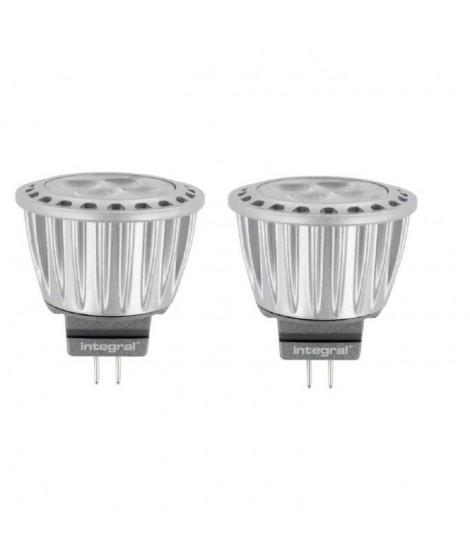 INTEGRAL LED Lot de 2 ampoules spot MR11 GU4 3,7 W équivalent a 20 W 2700 K 280 lm
