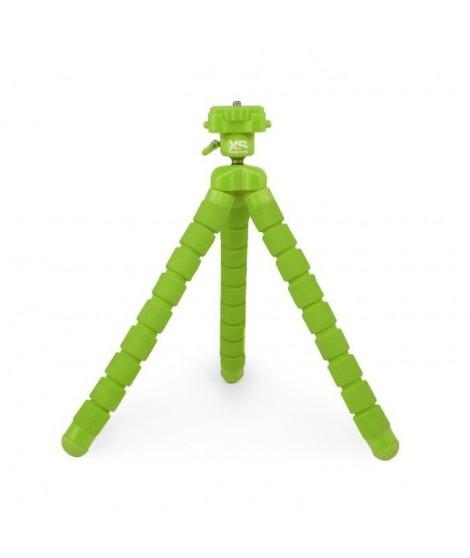 XSORIES - BIG BENDY - Trépied articulé pour GoPro, appareil photo ou caméra, tete rotative - Hauteur 27 cm - Vert