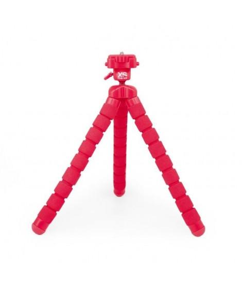 XSORIES - BIG BENDY - Trépied articulé pour GoPro, appareil photo ou caméra, tete rotative - Hauteur 27 cm - Rouge