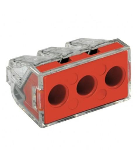 WAGO Blister de 10 bornes type 773 3 entrées 2,5 a 6 mm² transparentes
