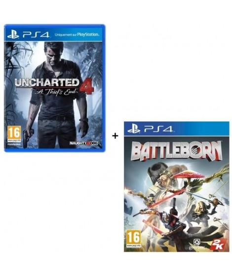 2 Jeux PS4 : Uncharted 4 : A Thief's End + Battleborn