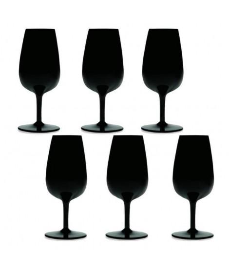 Boîte de 6 verres Degustation noirs  en cristallin