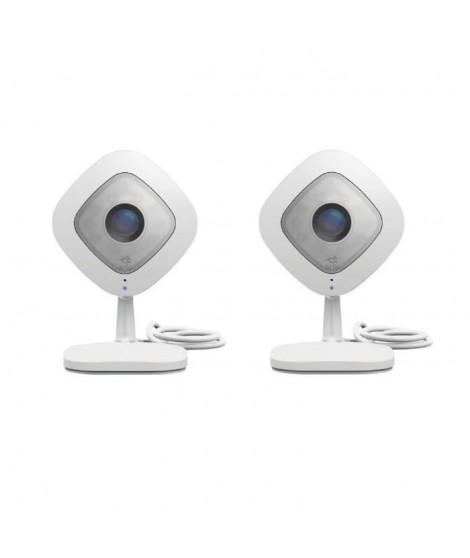 NETGEAR Pack de 2 caméras de surveillance Arlo Q full HD, vision nocturne, Wi-fi et compatible avec toutes les box VMC3040-10…