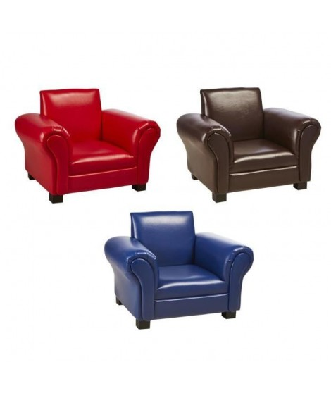 Lot de 3 fauteuils club enfant en simili - Multicolore