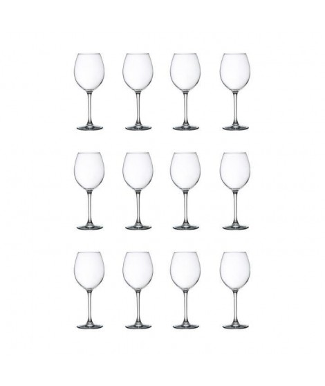 LIBBEY CLARET Lot de 12 verres a eau 24 cl transparent