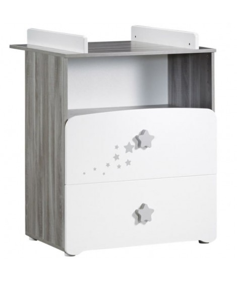 BABY PRICE New  Nao Commode a langer 2 tiroirs + 1 grande niche