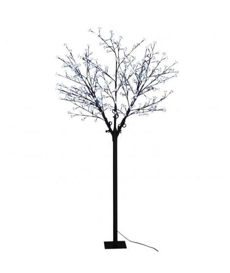 Arbre de Noël Cerisier 300 LED hauteur 210 cm blanc