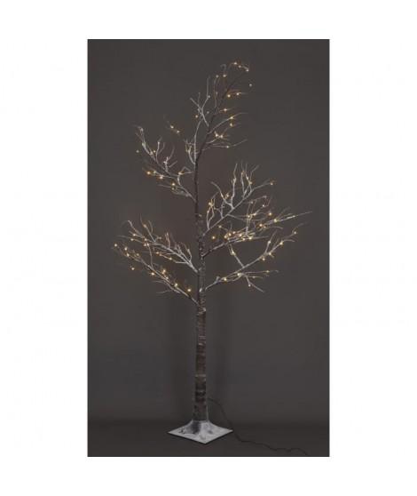 Arbre de Noël avec neige 120 LED hauteur 180 cm blanc