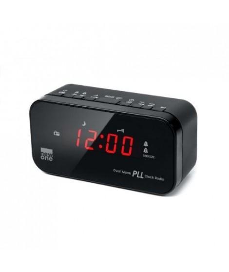 MUSE CR 120 Radio réveil double alarme Noir
