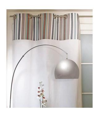 SOLEIL D'OCRE Rideau a oeillets Stripes 100% coton 140x240 cm bleu