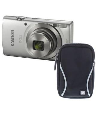 Pack CANON IXUS 175 Appareil photo numérique Compact Argent - 20,2 mégapixels - Zoom Plus 16x 16x + Etui