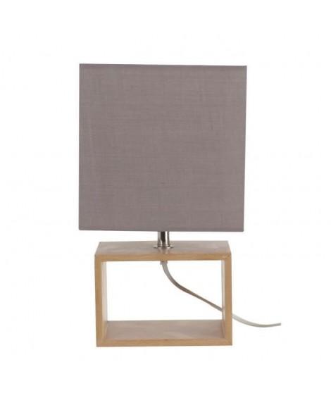COREP Lampe a poser style scandinave 18x12x31 cm E14 40 W gris et beige