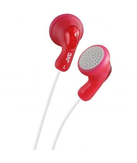 JVC HA-F14 Ecouteurs funs et colorés Gumy Rouge