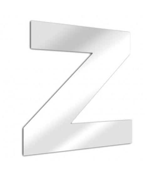 TEND'ME Lettre miroir Z Arial en verre acrylique 13 cm argent