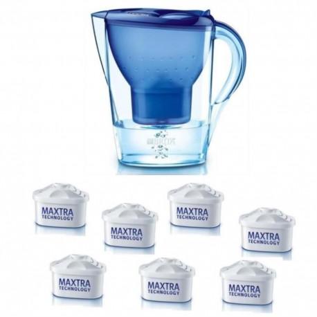 BRITA 1 carafe MARELLA BLEUE + 7 Cartouches