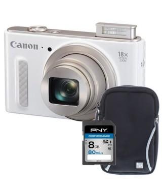 CANON POWERSHOT SX610 HS Appareil photo numérique Compact - Full HD - Blanc + Carte 8Go + Etui