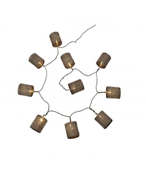 CODICO Guirlande de noël diamant LED blanches 1,5 m argentée