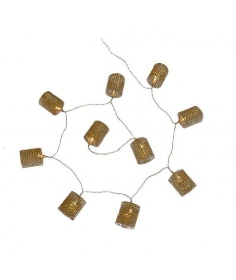 CODICO Guirlande de noël diamant LED blanches 1,5 m dorée