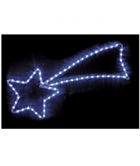 CODICO Suspension étoile filante pour sapin de noël 48 LED 31x68 cm blanc