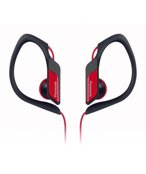 PANASONIC HS34 Ecouteurs Semi-Intra Sport Clip étanches Rouges