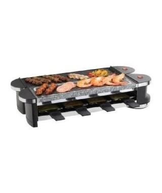 DOMOCLIP DOC160 Raclette et gril modulable ? Jusqu'a 8 personnes ? 1200W ? Noir