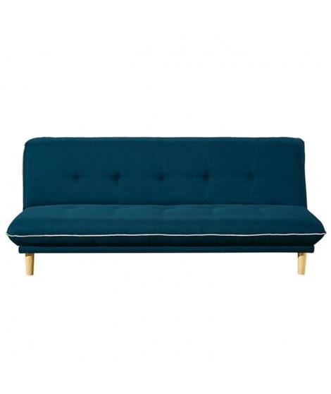 HELLA Banquette clic clac 3 places - Tissu - Bleu - 193x95x83 cm