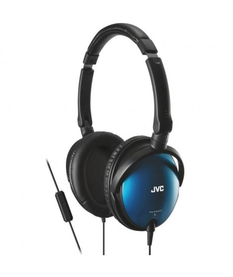 JVC HA-SR625 Casque circum-aural avec télécommande Bleu