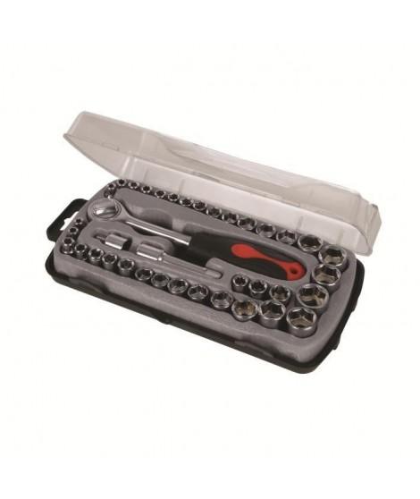SILVERLINE Coffret compacte 39 pieces de clé a douilles