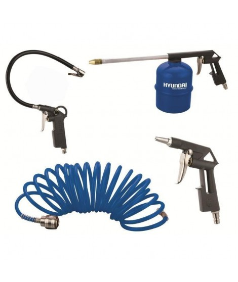 HYUNDAI Kit de 4 Accessoires pour Compresseur