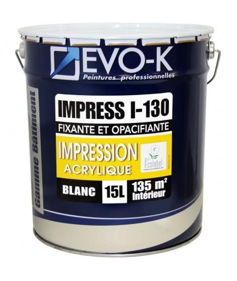 EVO-K Sous-couche professionnelle plaque de plâtre I-130 15 L blanc mat