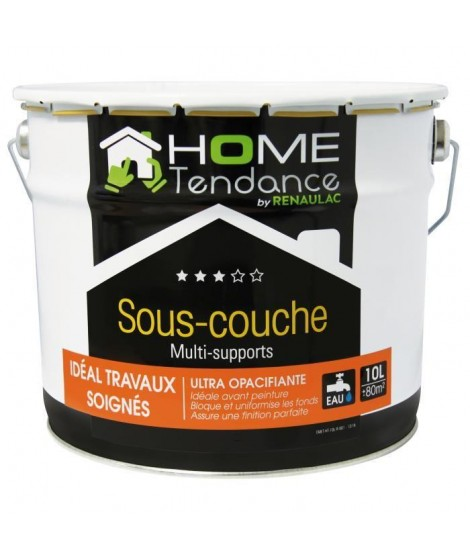 Sous-couche multi-support acrylique mat blanc 10L - HOME TENDANCE by Renaulac