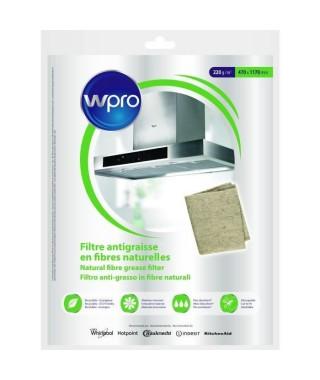WPRO NGF221 Filtre antigraisse universel en fibres naturelles de lin - 220g/m² 47 x 117 cm - hyper absorbant et écologique