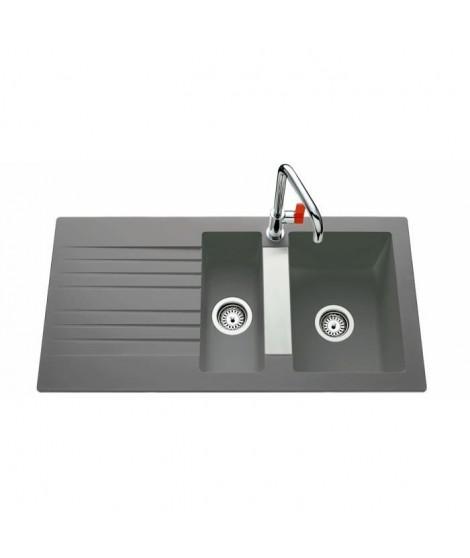 EWI Evier Soledad 100x50cm 1,5 bac 1 égouttoir béton