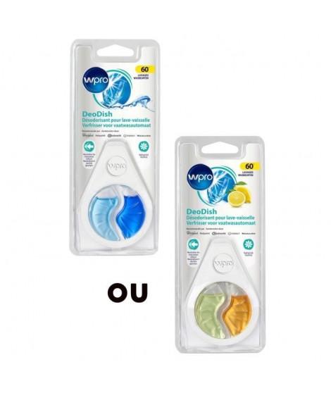 WPRO DWD018 Désodorisant lave-vaisselle commandable par display de 16p : 12 senteurs citron et 4 senteurs marine