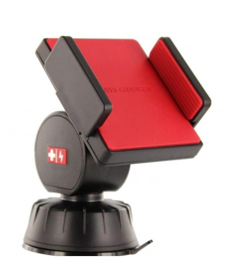 SWISS CHARGER Support ventouse universel 360°