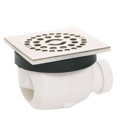 WIRQUIN Bonde de douche D90 Twisto a débit rapide avec grille en inox Carree