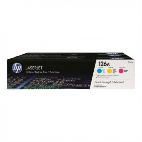 HP 126A Toner Laser Multipack 3 Couleurs