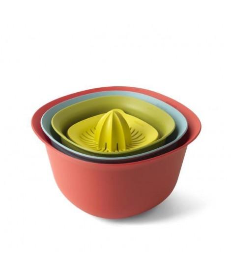 BRABANTIA Set bols de cuisine 110047 1,5-3,2L menthe, bleu, vert et jaune