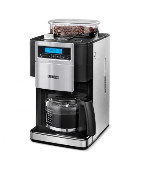 PRINCESS 249402 Machine a expresso avec broyeur intégré ? 1000W ? 1.25 L - Inox